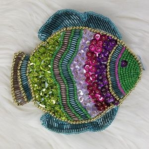 Sequined Fish Coin Purse / Pouch